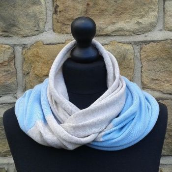 Hope Infinity Scarf Light Sand & Cool Blue